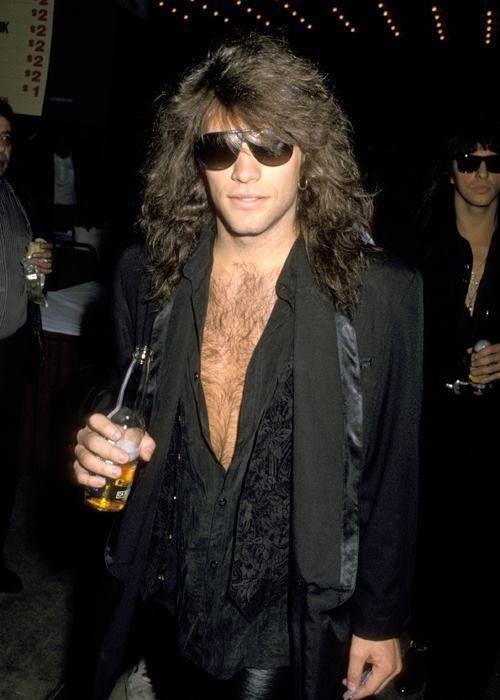 Jon Bon Jovi at 1988 Mike Tyson fight in Las Vegas