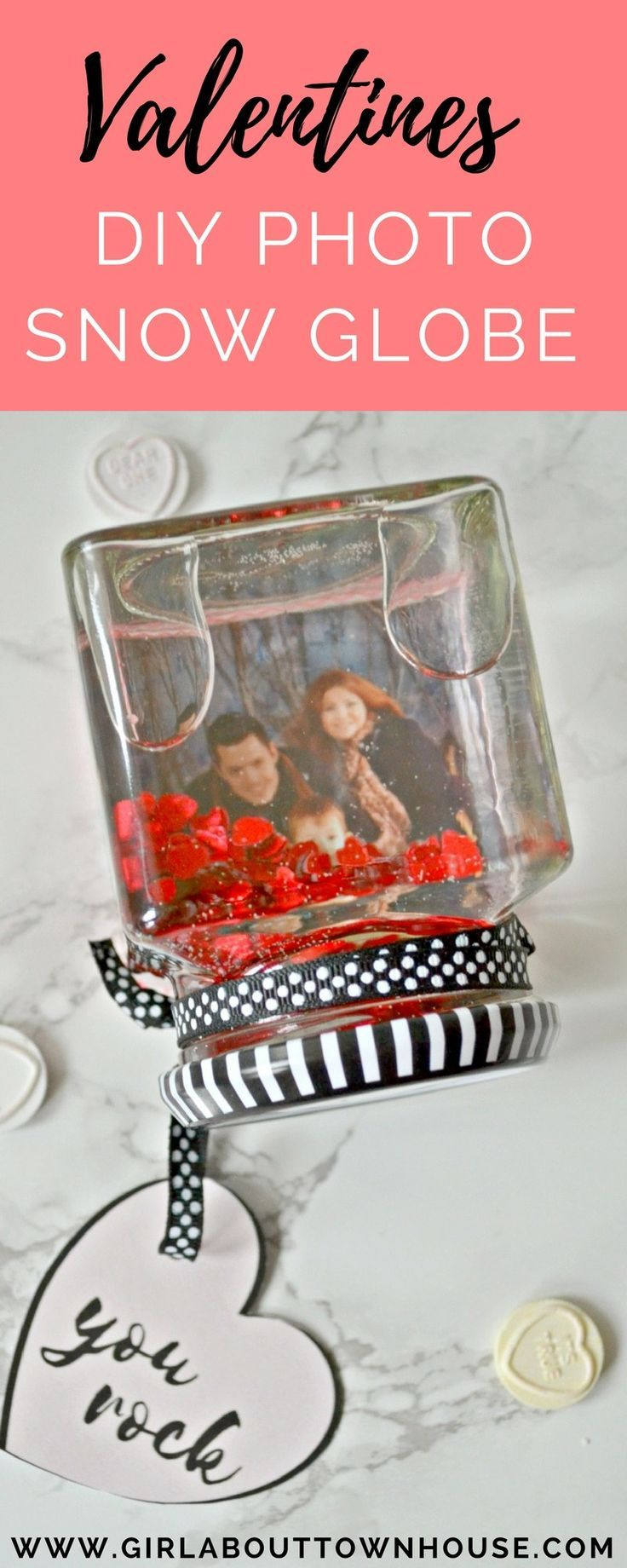 Valentine's DIY Photo Snow Globe. A simple valentines DIY gift perfect for someone special.