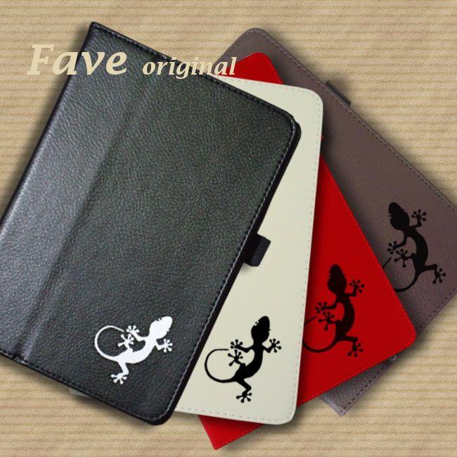 【送料無料】【名入れ対応】今、人気のオシャレな手帳型レザータイプ。 。iPadケース (トカゲ) 手帳型 オリジナル 送料無料 蜥蜴 とかげ ヤモリ やもり  ペットシリーズ 動物 アニマル 爬虫類 ブラウン ブラック iPad Air Air2 mini mini2 mini3 mini4