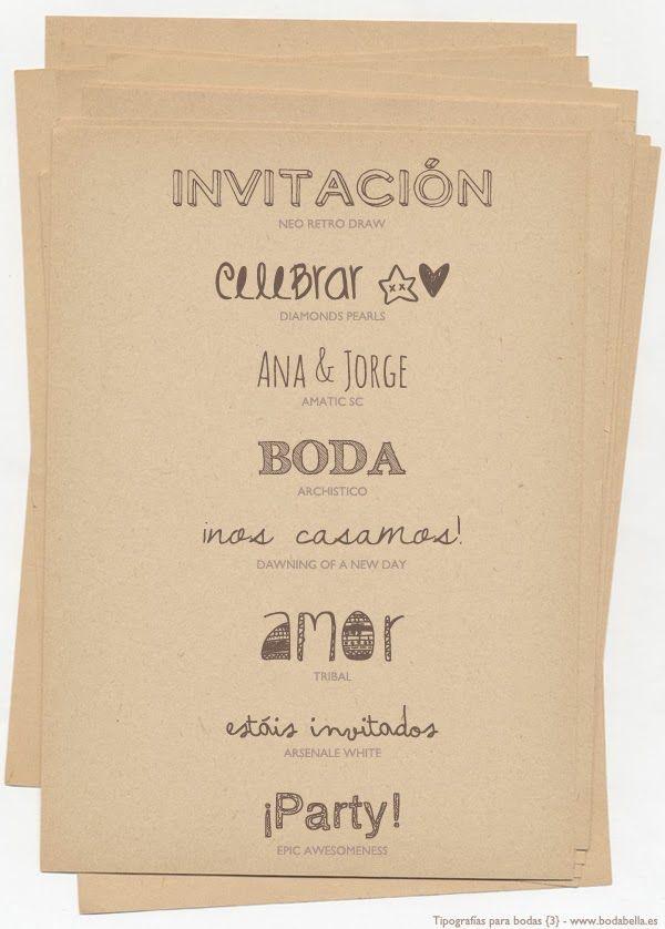 Tipografías para bodas {3}: Divertidas y handmade - Boda Bella fuentes