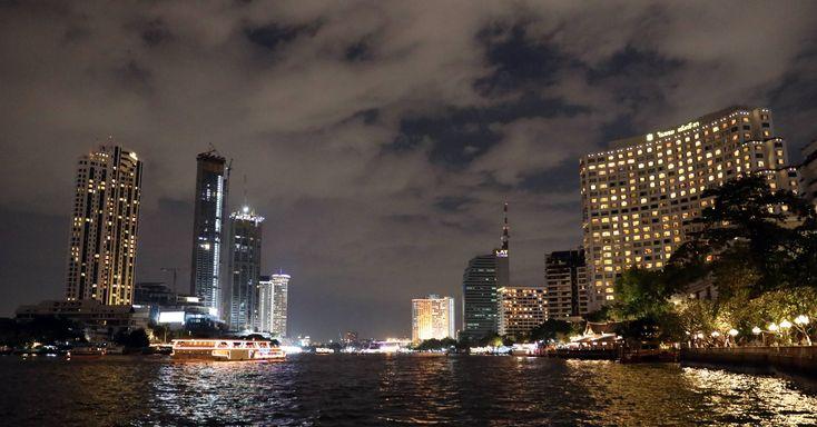 Chao Phraya River at night, Bangkok