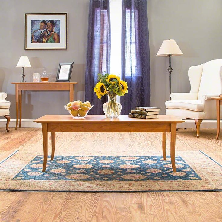 Classic Shaker Style Coffee Table | Solid Wood Living Room Furniture |  available at Vermont Woods - 116 Best Images About Living Room Furniture On Pinterest