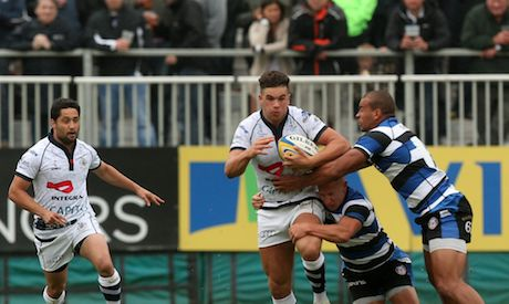 Full back Ben Mosses was a lively threat to the Bath defence during the first period