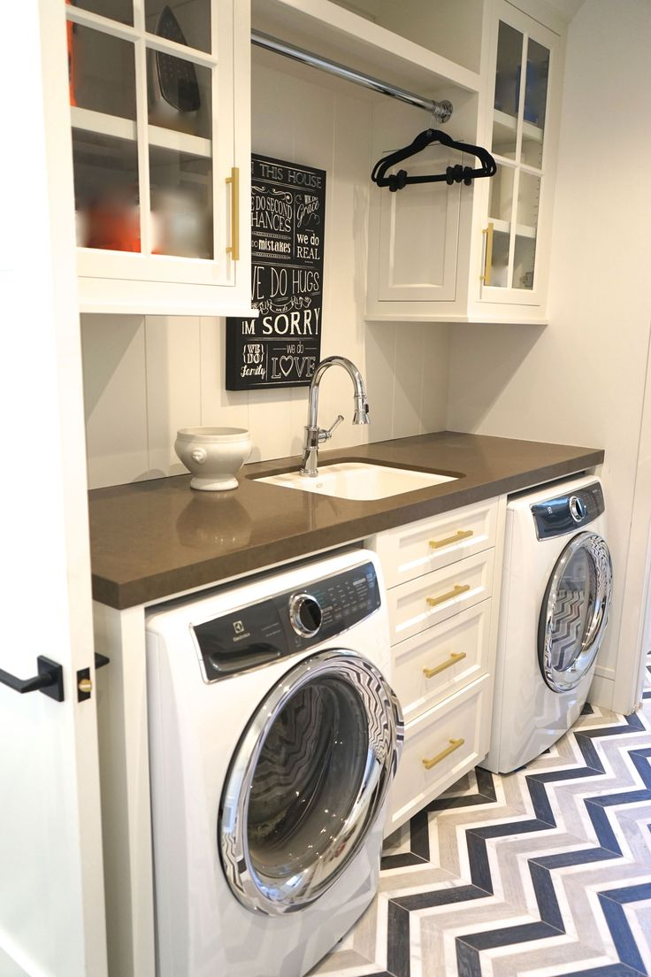 Built in laundry/ custom cabinets