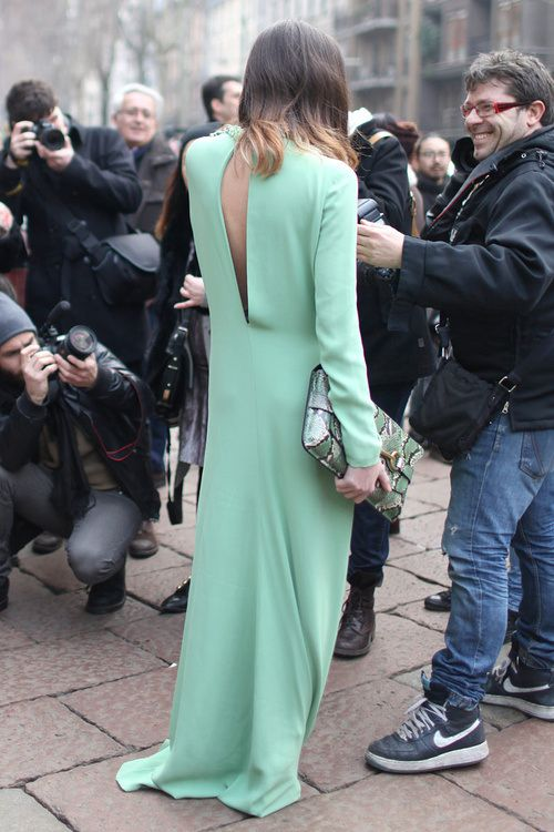 good from the back. #EleonoraCarisi in Milan.