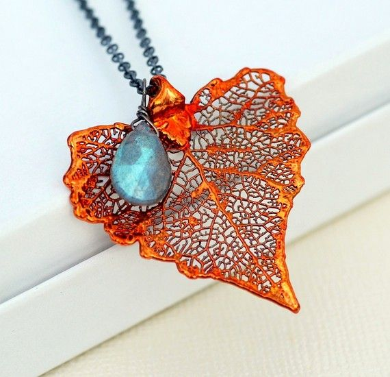 Gorgeous copper and teal necklace