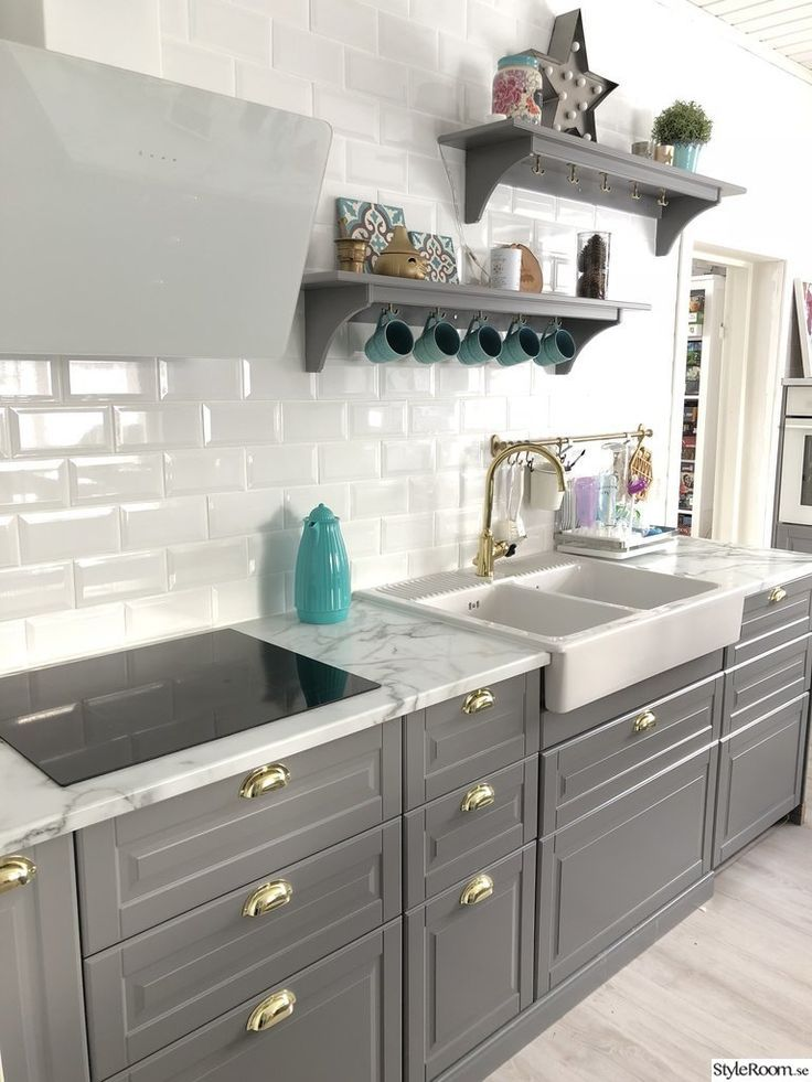 Bodbyn Bodbyngra Ikea Grau Kitchen Design Grey Kitchens Grey Kitchen