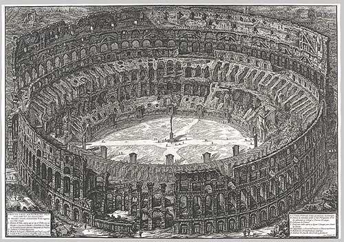 Prima parte di architetture e prospettive, il Colosseo, 1743, incisione