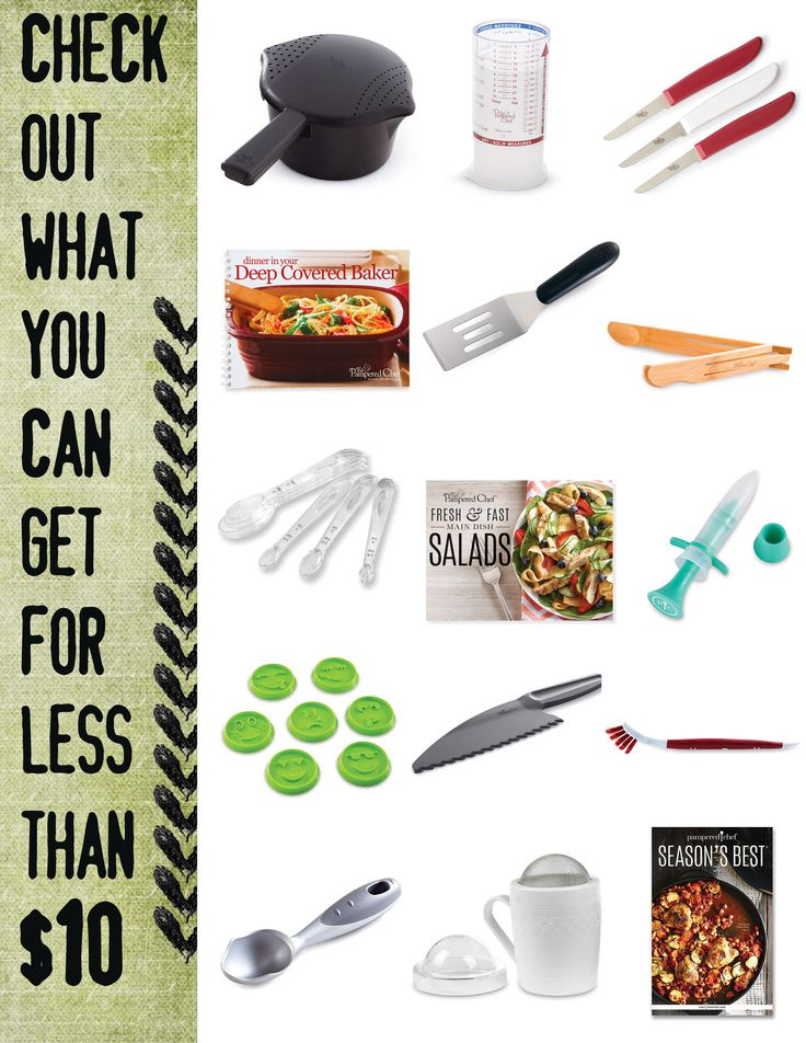 Pampered Chef Under $10, there's something for everyone with many products less than $10. handy ad for consultants