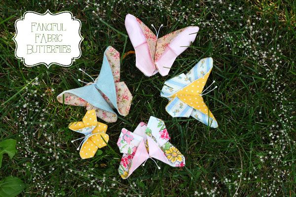 Fanciful Fabric Butterflies - Think Crafts by CreateForLess