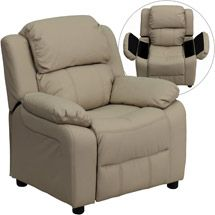 Walmart: Flash Furniture Kids' Vinyl Recliner with Storage Arms, Multiple Colors