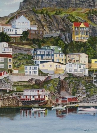 "Artist - ""The Battery"" St. John's, NL by Don Rideout"