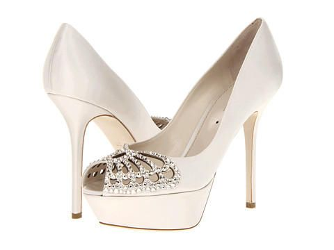 Winter Indian Wedding White Shoes By Sergio Rossi