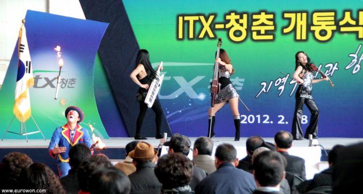 Actuación musical en la inauguración del tren ITX a Chuncheon.