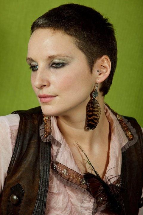 Partridge feather earring