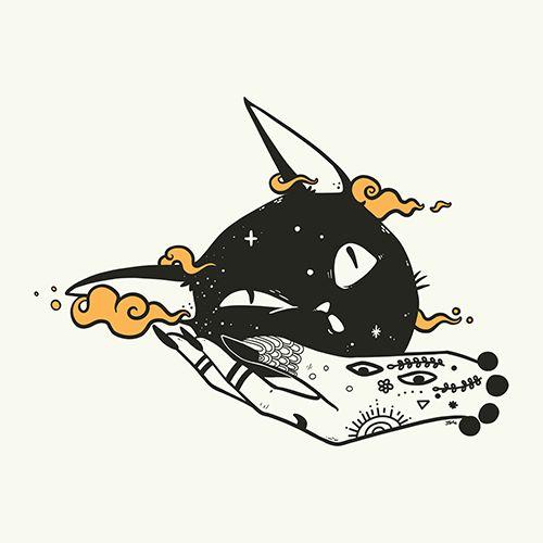 Cat Head, Matte Art Print Poster – Neko –