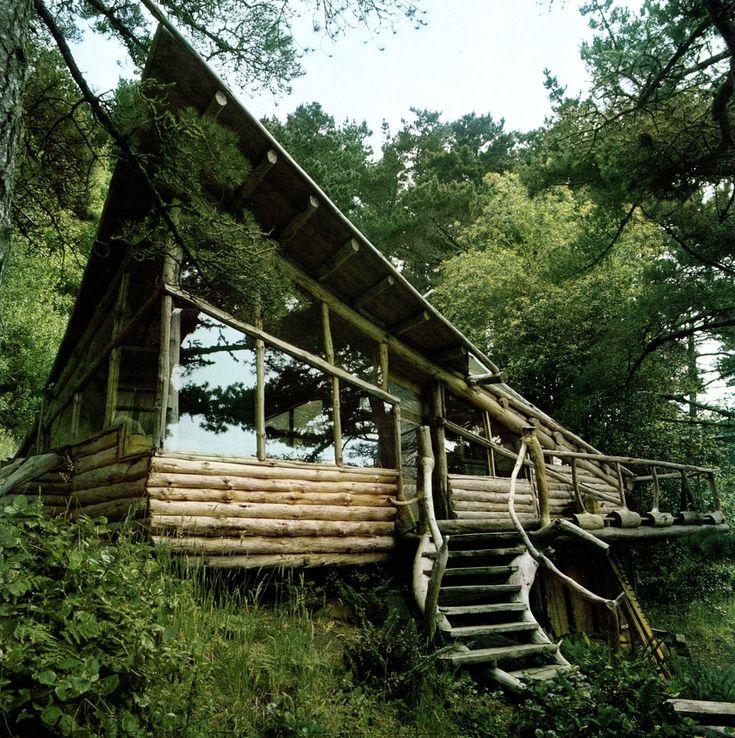 Modern Interiors Design, Modern House Design, Home Interiors, Wood, Dreams, Trees House, Design Home, Logs House, Logs Cabin