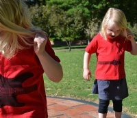 love these Aussie twins sportin gemellini t's! available at www.alittlebitofcheek.com.au