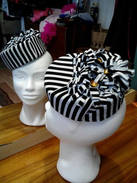 Black and white pillbox by Ozmonda #OzmondaHatGallery #couturehat