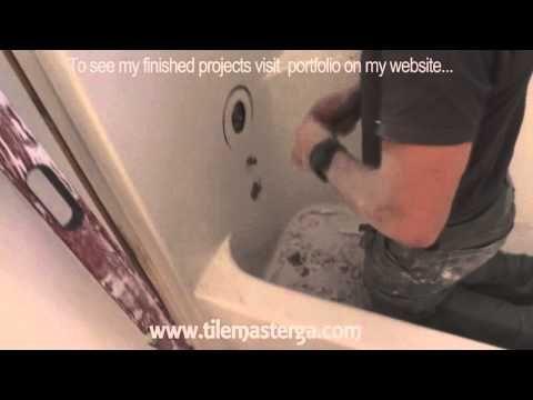 how to remove tub fiberglass shower enclosure demo tearout youtube