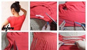 T-shirt Restyling Idea – DIY No Sew