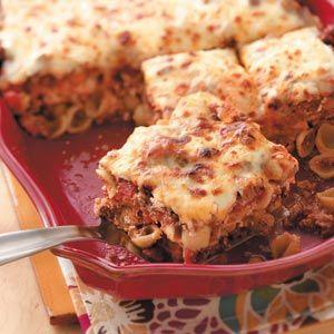 Easy lasagna bake