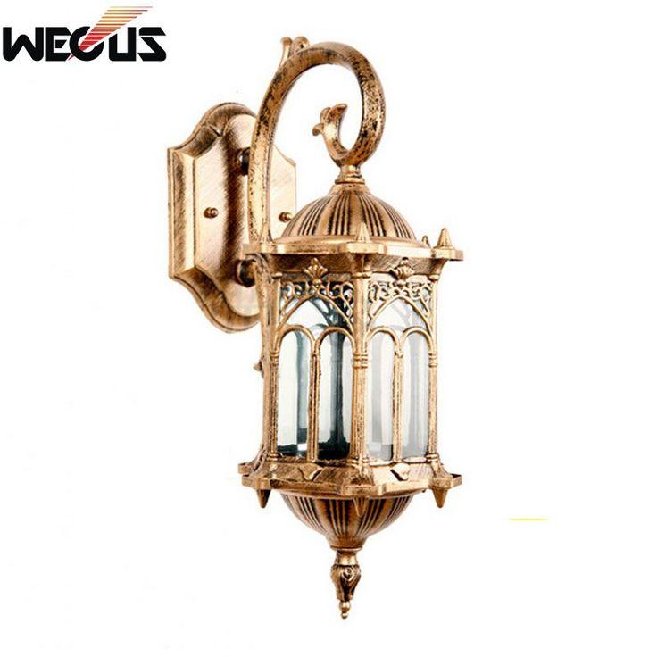 Barato (Wecus) Europa retro arandela lâmpadas villa luzes do jardim à prova d' água ao ar livre gazebo colocando na parede do corredor de entrada do corredor lâmpada, Compro Qualidade Lâmpadas de parede diretamente de fornecedores da China:                      North European angel bird led wall lamp
