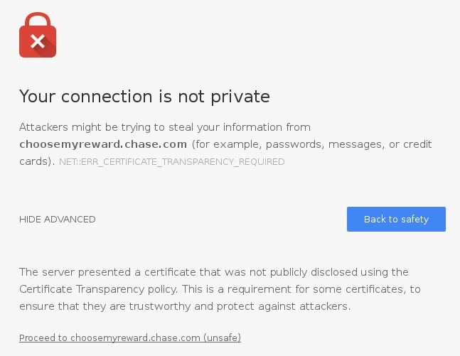 Why Chrome 53 is Rejecting Chase Bank's Symantec Certificate