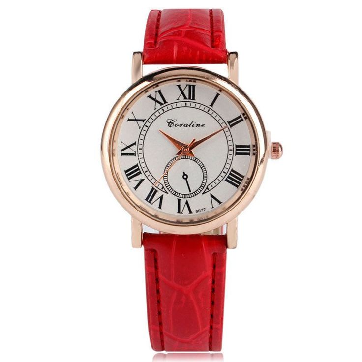 Fashion Roman Numbers Round Dial Leather Band Strap Women Dress Wrist Watch Gift  Love it! checkout www.sweetpeadeals.com for dresses up to 80% OFF!