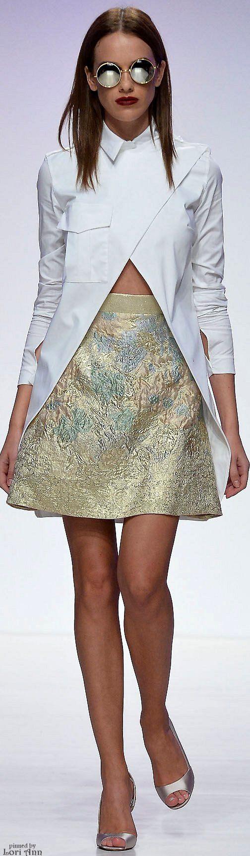Hussein Bazaza Spring 2016 RTW women fashion outfit clothing style apparel @roressclothes closet ideas