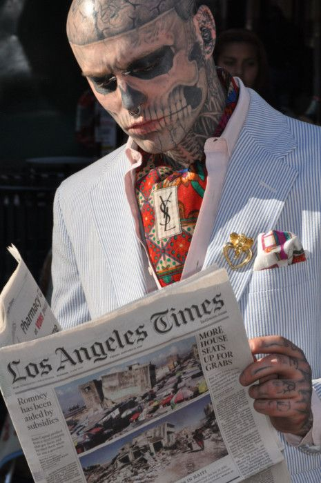 rick genest...how can you not respect someone who wears their soul on their body?