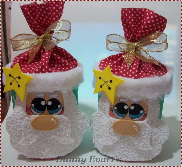 dulceros con latas navideñas