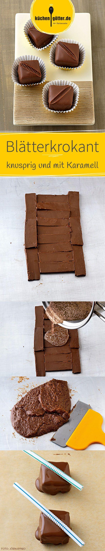 BLÄTTERKROKANT -  Knusprig im Biss und leicht malzig im Geschmack - bei unserem Rezept gehen Karamell und Nugat eine Symbiose ein, umhüllt von feinster Vollmilchschokolade.