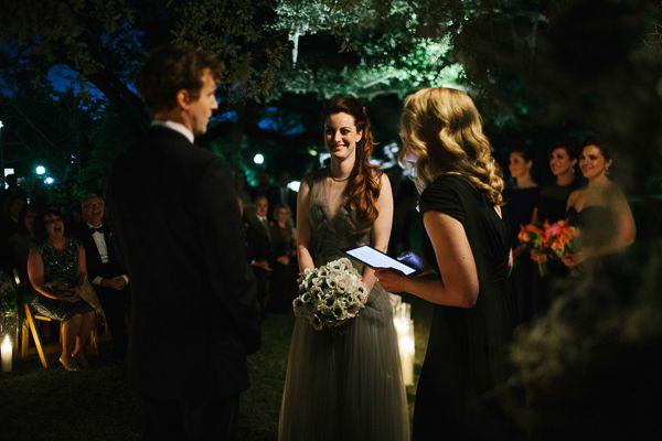 свадебная церемония при свечах