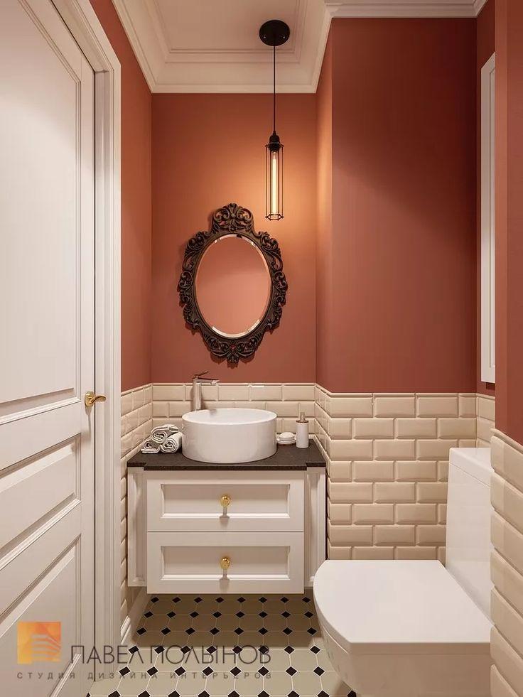 Фото санузел из проекта «Дизайн проект трехкомнатной квартиры 88 кв.м., ЖК «Северная Долина», американская классика с элементами LOFT»