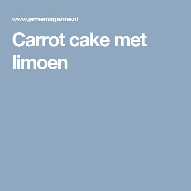 Carrot cake met limoen