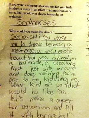 There's nothing like a funny kid note, drawing or costume to get us laughing and remind us not to ta