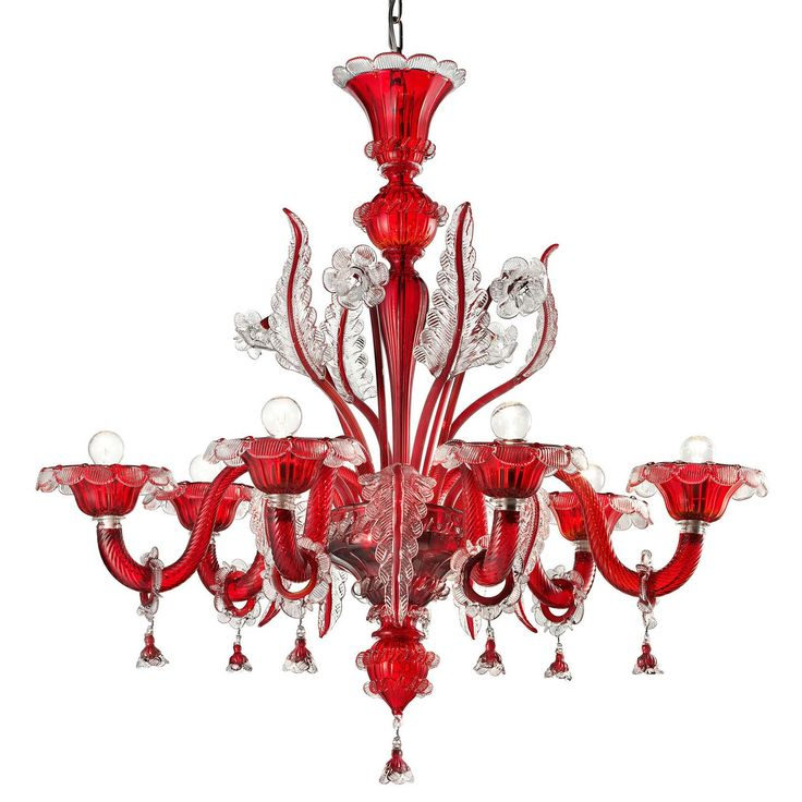 Red Murano Chandelier: 15 Best Red Murano Chandeliers Images On Pinterest