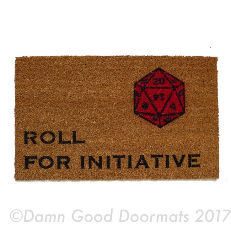 Dungeons And Dragons Roll For Initiative Rpg Doormat Nerd Decor Nerdy Decor Nerd Room