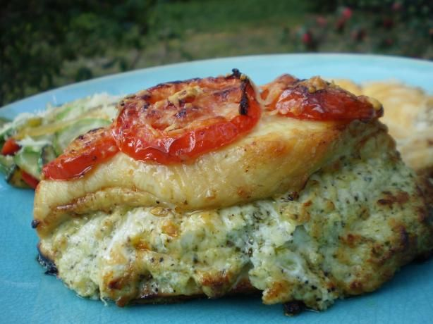 """Pesto Presto Chicken (Rachael Ray) from Food.com:   This is one of her recipes taken from her new book """"Look + Cook"""" with a slight modification.   I was unable to get the Boursin Cheese at our local store, so used  Boursin Cheese (Homemade)"""