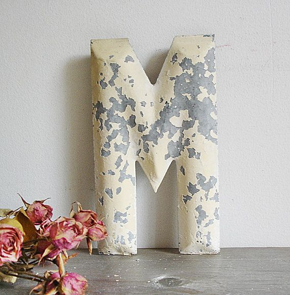 "vintage salvage ""m""Vintage Salvaged, Architecture Salvaged, Marquee Letters, Fl House, Inspiration Letters"