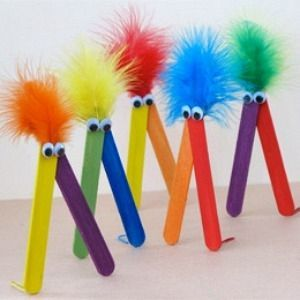 All Craft Stick Crafts Ideas  even really little kids can do this.