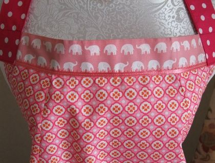 'Pink Elephants' - Full Apron