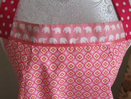 'Pink Elephants' - Full Apron