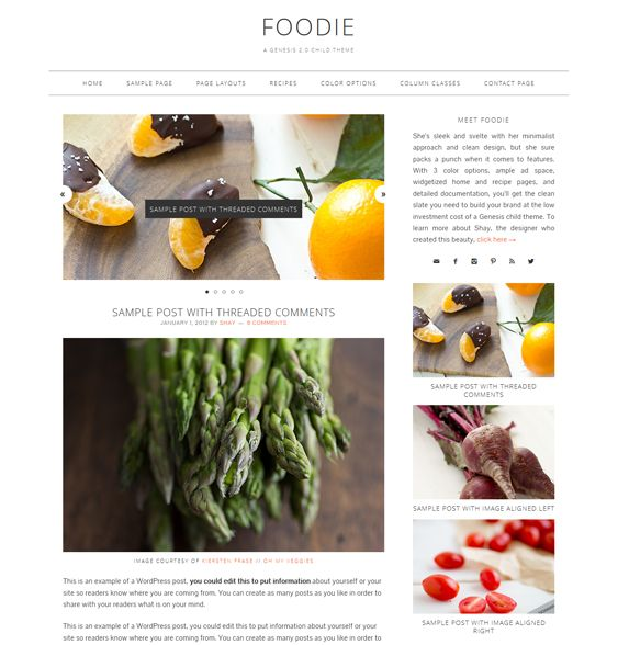 12 mejores imgenes de 12 more of the best wordpress themes for this wordpress theme for food and recipe websites has a minimal design 3 predefined color forumfinder Gallery