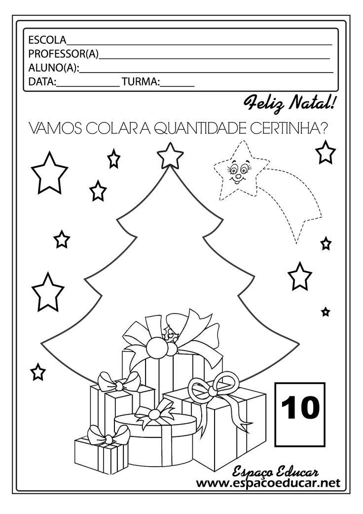 Atividades de Natal para a Educação Infantil prontinhas para você imprimir! Aprendendo os numerais até 20! - ESPAÇO EDUCAR