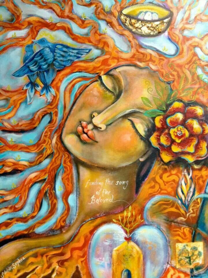 """""""Today, I will relax, breathe, and go with the flow.""""    ~  Melody Beattie  Artist:  Shiloh Sophia McCloud Title: 'Finding the song of the beloved '   <3 lis"""