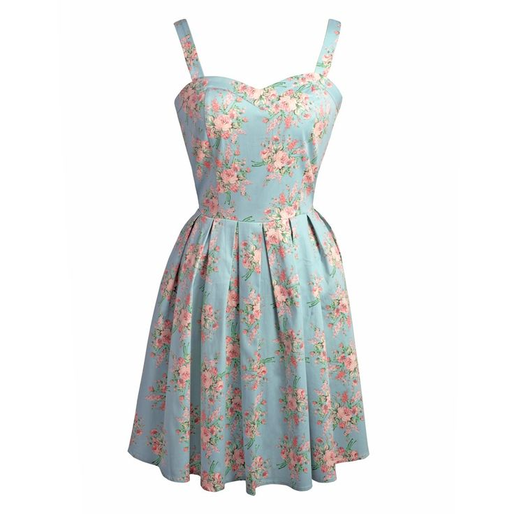 A vintage floral 50s style dress The elasticated panels on the side help to give you the perfect fit. Turn Inside Out, Machine Wash Cold, Do Not Bleach, Cool Iron, Do Not Dry Clean, Do Not Iron Decoration