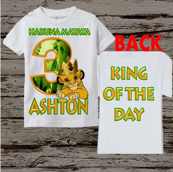 Cumpleaños camisa del Rey León chico Rey por BellaFashionDesignz