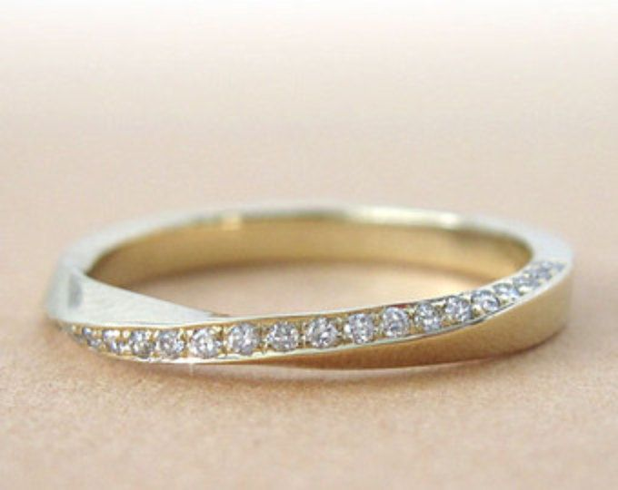 Mobius diamond ring, Diamond mobius ring, Gold mobius infinity ring, mobius wedding band, Diamond mobius wedding band, mobius engagement